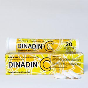 Vitamina C é um suplemento alimentar. Contribui para a normal formação de colagénio para funcionamento normal dos vasos sanguíneos, pele, ossos e cartilagem. Redução do cansaço e fadiga para o normal funcionamento do sistema imunitário. Aumenta a absorção de ferro. Embalagens de 20 comprimidos efervescentes.